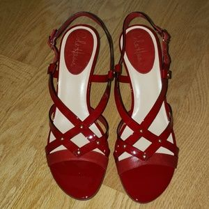 Cole Haan Red Nike Air Sandals, Sz 9.5B